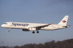EC-HPM Edinburgh 15-1-2001 (Plane Buddy) Tags: echpm airbus a321 spanair edi edinburgh