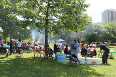 Saturday In The Park (Flint Foto Factory) Tags: chicago illinois urban city summer june 2015 north lincolnpark saturday afternoon zoo cookout park saturdayinthepark song petercetera food music chairs family fun trees pretty beautiful outdoors bottled water