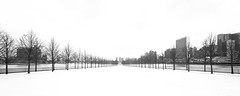 BW_MG_1119-Pano (wsifrancis) Tags: 2017 winter america unitedstates usa newyork manhattan 冬 美國 紐約 曼哈頓 rooseveltisland franklindrooseveltfourfreedomspark louiskahn