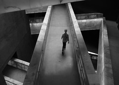 Canadian Museum for Human Rights (Timothy Neesam (GumshoePhotos)) Tags: stairs stairway halls hallway architecture museum light bw blackandwhite