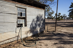 Disappearing Hose (oz_lightning) Tags: australia canon6d canonef1635mmf4lis dunlopstation nsw westerndivision agriculture building decay outback rural louth newsouthwales aus