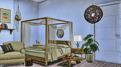 The Maldives Bedroom (RyanTailor (Taking Clients)) Tags: furniture deco decor decorate decoration uber event monthly new bedroom bed applefall ta tartessosarts bueno design interiour nutmeg secondlife inworld indoor