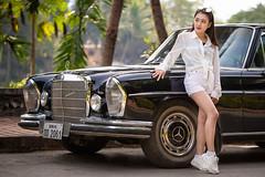 Tata in front of 1961 Mercedes Benz  220SE, Luang Prabang, Laos (jonasfj) Tags: