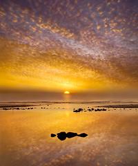Dawn over Pett Level (adrians_art) Tags: eastsussex pettlevel sunrise coast shore beach sand rocks dawn sky clouds patterns seawater waves tide uk england englishchannel