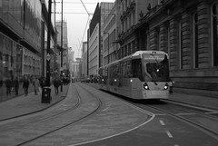 Manchester Metrolink (Tony Worrall) Tags: welovethenorth nw northwest update place location uk england north visit area attraction open stream tour country item greatbritain britain english british gb capture buy stock sell sale outside outdoors caught photo shoot shot picture captured gmr manchester manc architecture buildings tram rails travel tracks urban city curve street railway bus manchestermetrolink metrolinkisatramlightrailsystemingreatermanchester