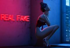 N°1286 - Real | Fake ♪ (Rina Edenflower) Tags: sintiklia nerido eudora3d fameshedgo bueno theepiphany lelutka ysys powderpack maitreya secondlife secondlifefashion