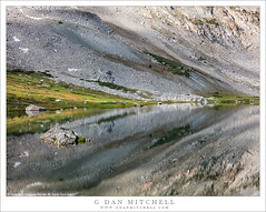 Alpine Lake, Cloud Shadows, Reflection (G Dan Mitchell) Tags: sierra nevada greenstone lake twenty lakes basin reflection shadows cloud talus slopes meadow mirror mountains landscape nature california usa north america