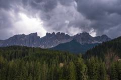 Latemar (HSlights) Tags: pozza di fassa latemar lago carezza val montagna monti montain panorama paesaggio landscape dolomiti verde fuji hx1