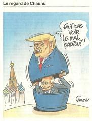 Trumpologie (Chti-breton) Tags: dessinsatirique trump poutine chaunu bleu