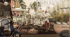 #499. Eu bato um papo... Eu bato no ponto... Eu tomo um drinque... Eu fico tonto! (Gui Andretti (Man Cave • Kinky Event • SenseS ) Tags: dustbunny kalopsia whatsnext littlebranch peaches sayo thebeardedguy gacha furniture decor decorate decoration exterior garden place vacation interior design living space summer icecream friends second life mesh