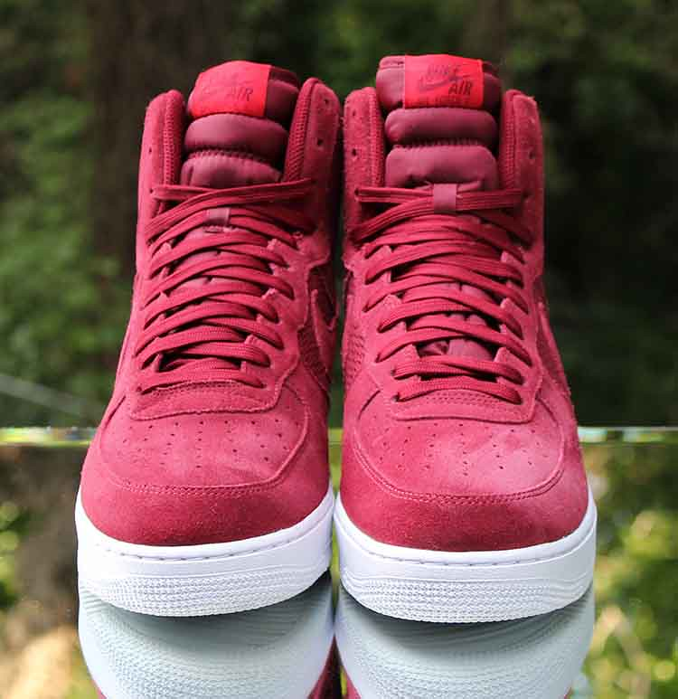 new products 8713d 47ed4 Nike Air Force 1 High 07 University Red White Suede 315121-610 Size 11 (
