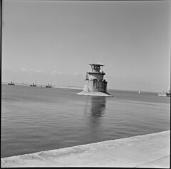 The Kish in Dun Laoghaire? (National Library of Ireland on The Commons) Tags: jamespo'dea o'deaphotographiccollection nationallibraryofireland thekish dunlaoghaire harbour tugs outtosea christiani commissionersofirishlights lighthouse dublinbay dublin lightships christianinielsenltd 6 500tonnes kishbank