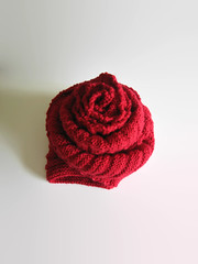 Blanket Scarf Knitted in Red Merino Wool (brandacrafts) Tags: blanketscarf scarf red branda knits merino