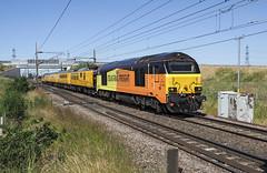67023 67027 Joan Croft (Geoff Griffiths Doncaster) Tags: 67023 67027 joan croft colas class 67 test train 1q18