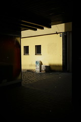 Untitled (Henry Hemming) Tags: abstract direction fear mystery passage through silhouette corner dark shadow street