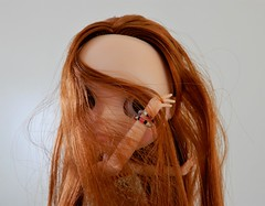 She's a strange one, that Shelby... (Molly Moult) Tags: doll blythe fake factory redhead redhair model shelby custom
