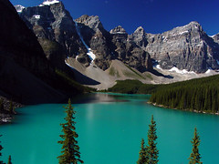 Moraine Lake (Lauren98) Tags: lake canada rockies hiking gorgeous sony bluewater alberta banff mavica mountainlake moraine globalvillage banffnationalpark rockpile morainelake canadianrockies naturescenes glaciallake glacialwater coloredwater calendarshots lauren98 mavicacd morainelakerockpile lunarvillage ultimatemountainshots
