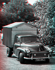 Shed On Wheels 3D Anaglyph (coronetv000) Tags: three hall stereoscopic stereogram stereophotography 3d crosseye rally wheels shed anaglyph stereo national morris minor viking parallel normandy redblue scunthorpe 3dglasses stereoscope dimensional mmoc stereocamera crossview anaglifo redcyan anachrome stereophotographic 3d morris anáglifo anaglifica