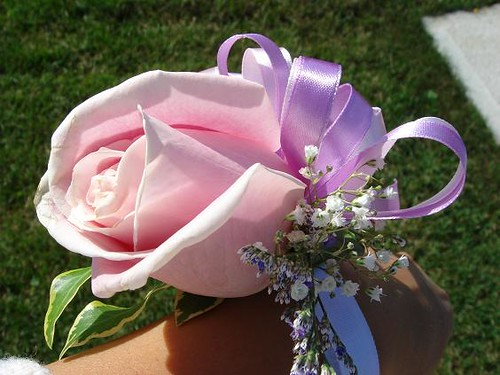 Pink Rose Bridesmaid Corsage