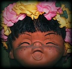 Hau`oli Wahine (changoblanco) Tags: girl vintage toy happy doll hula hawaiian wahine hauoli