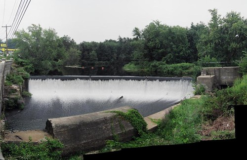 Summer view of Merrimack dam