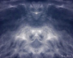 Storm Clouds (nomm de photo) Tags: storm abstract face clouds spider threatening photoshopped creepy owl mirrored expressionistic digitallyaltered reinnomm availableforpurchase abigfave availableforlicensing