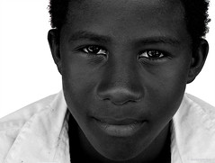 Fish Boy Portrait (beckerpecker) Tags: friends vacation portrait people blackandwhite bw white beautiful face kids dominican republic dominicanrepublic dr picture caribbean domingo santodomingo mywinners impressedbeauty eliteimages