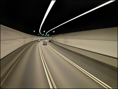 Motion in a Tunnel - Hong Kong (Maciej Dakowicz) Tags: china motion car hongkong photo asia magic tunnel super hong kong extra unbeliveable dakowicz lpmotion