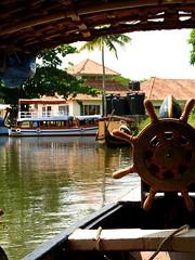 IMG_3483kumarakom (visithra) Tags: india lake river boats boat wooden traditional houseboat kerala backwaters kumarakom vembanand