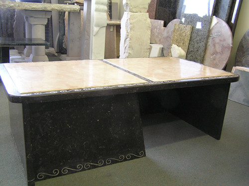 Marble Coffee Table (side view)