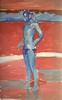 Man in Speedo (dromidror) Tags: male beach paint oil speedo