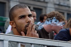 Having a fag in Amsterdam