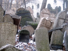 Graves in Old Jewish Cenetery Prague
