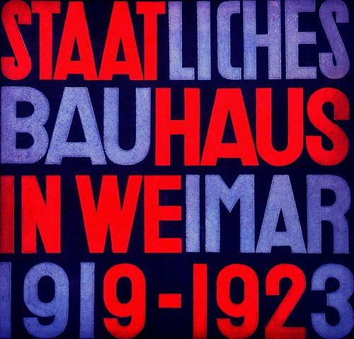Cubierta de un catálogo de Bauhaus