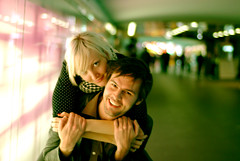 piggyback ride through central station (cybele malinowski) Tags: light love dan central railway 18 piggyback fromage cybele