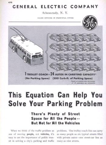 GE Streetcar ad, 1940