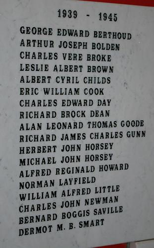 Second World War Memorial - Hatfield Heath, Essex