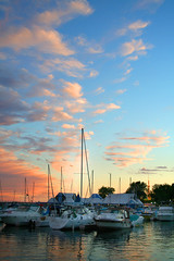 Toronto Harbor (Michael Rugosi) Tags: sunset toronto ontario boats harbor place