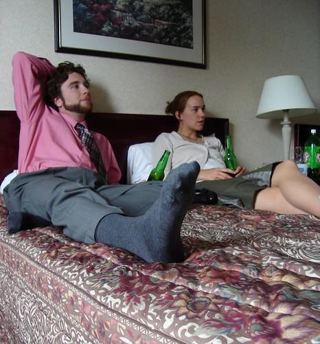 wedding socks hotel bed megan travelodge sonydscs40 borrelli julieandstirlingswedding