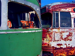 Trolley Cars, Red Hook - by madabandon