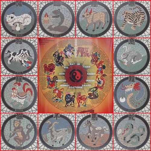 Chinese Zodiac Mosaic
