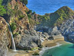 Paradise beach in HDR (filippo rome) Tags: california park beach julia state falls burns hdr pfeiffer mcway interestingness47 i500 photofans
