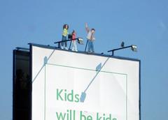 Kids on a billboard
