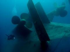 Wreck of the Al Khafain at Safaga (Arne Kuilman) Tags: underwater redsea scuba diving 1967 diver wreck safaga somabay photonotmine alkahfain ulsterqueen msulsterqueen