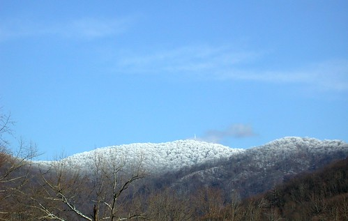 Snow on Frozen Head Mountain