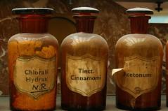 Apothecary Bottles (julsatmidnight) Tags: glass amber bottle europe european belgium belgique belgie market antique belgian bergen apothecary flea mons fleamarket juls