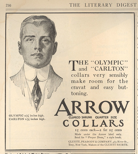 ... his chiseled boyfriend as the model for the archetypal Arrow Collar Man.