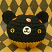 Amigurumi Halloween cupcake bear with pumpkin sprinkles glow-in-the-dark