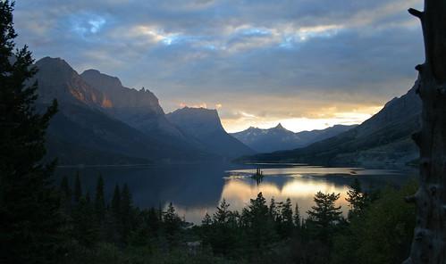 Glacier National Park sunset.