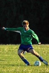 Playing soccer (mergemind) Tags: man men green grass sport geotagged football groen soccer gras voetbal bal opdekaart site:content=mergemind